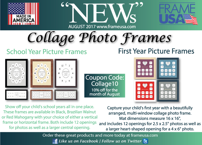 Frame USA August News -