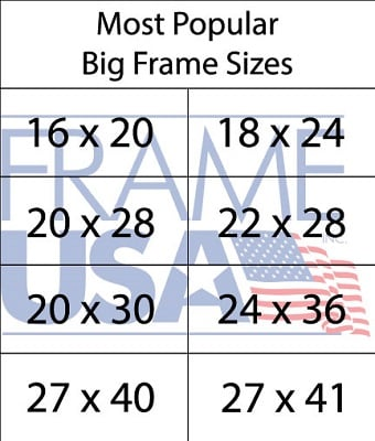 Large Frame Sizes