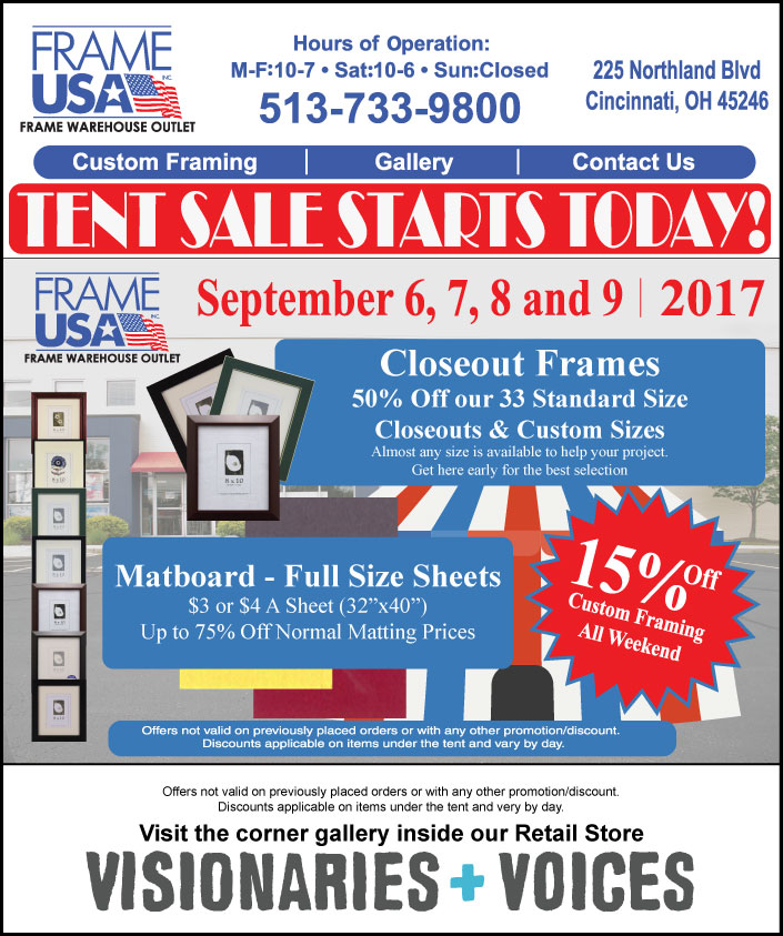 It\'s Back! Frame USA Retail Store\'s Annual Tent Sale Returns! -