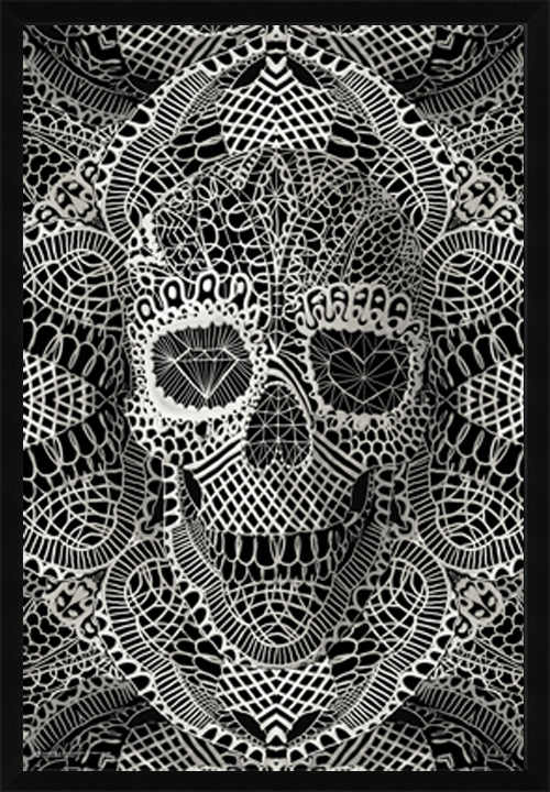 artist lace skull poster