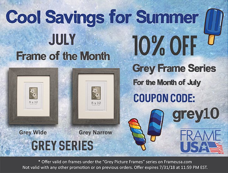 Grey Picture Frames – July Frame of the Month