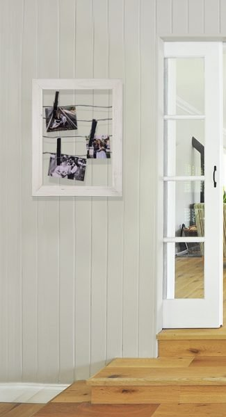 White Timber Photo Board