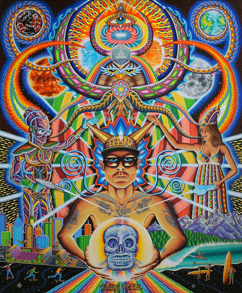 Multicultural and Psychedelic Artwork for Sale, by Chris Dyer
