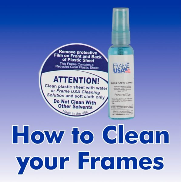 How To Clean Frames