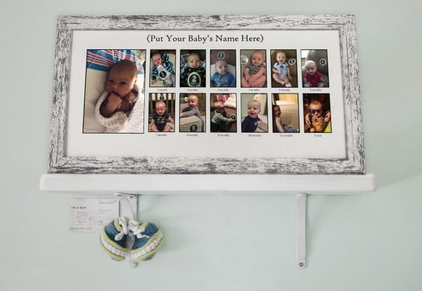 Baby's First Year Collage Frame displayed proudly for Frame USA's Gift Guide