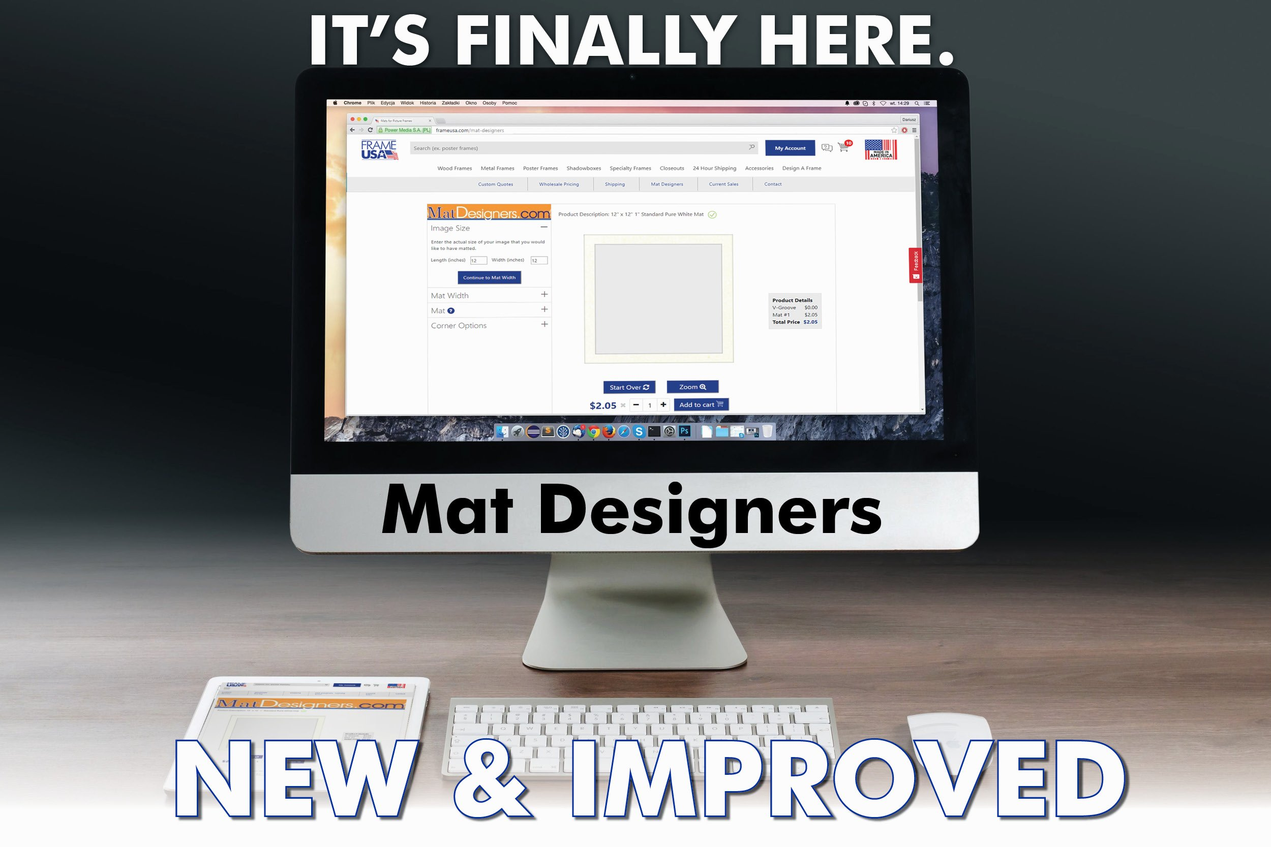 Mat Designers – NEW and IMPROVED mat ordering!
