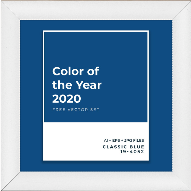 Blue Picture Frames and Mats – 2020 Color Trend